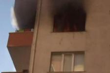 İstanbul'da 11 katlı binada yangın paniği