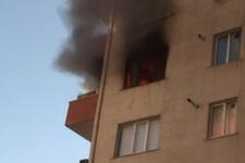 Beylikdüzü'nde 11 katlı bir apartmanın 5. katında yangın