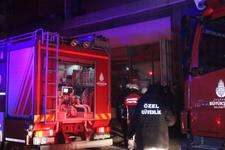 Dolapdere'de iş yerinde yangın! 1 kişi hayatını kaybetti