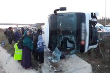 İstanbul'da yolcu otobüsü devrildi çok sayıda yaralı var