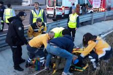 İstanbul'da yolcu otobüsü devrildi firma çalışanı 'Rüzgar savurdu' dedi