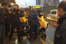 Metrobüsün altında kalan yolcu hayatını kaybetti