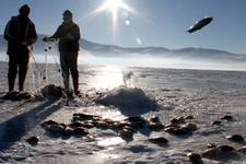 Ardahan'da eskimo usulü balık avı
