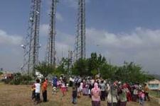 Vatandaşın baz istasyonu protestosu