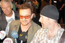 İstanbul'a gelen U2'ye sevgi seli
