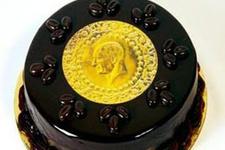Hiç altınlı pasta yediniz mi?