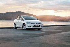 Yeni Honda Civic test sürüşü için hazır bekliyor...