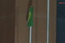 3 PKK'lı cenazesinde hastaneye PKK bayrağı