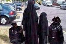 Çarşaflı kadın fotoğrafı Bağış'ı kızdırdı