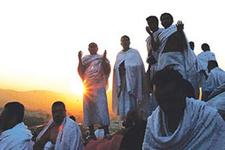 Hacı adayları Arafat'a çıkıyor