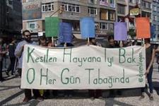 Kurban Bayramı'nı protesto ettiler