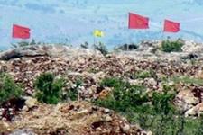 Karakol duvarına Öcalan posteri