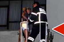 Sevgilisi Rus kadını eve kapatınca olan oldu!