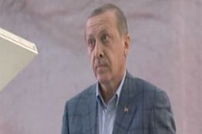 Erdoğan o anda öyle bir bakış attı ki