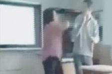 Kadın öğretmen engelli öğrenciyi böyle tokatladı