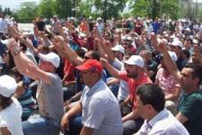 Sanayi kenti Bursa'da otomotiv işçileri eylemde