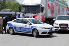 CHP seçim TIR'ını polis durdurdu!
