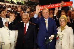 Erdoğan'ın yürüdüğü