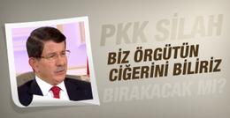 PKK'nın çağrısına Davutoğlu'ndan cevap!