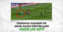 Hakem Sabri Sarıoğlu'nu tebrik etti