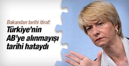 İtalyan bakandan Türkiye itirafı