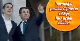 Davutoğlu yazınca Çipras Rus uçağı twitlerini sildi