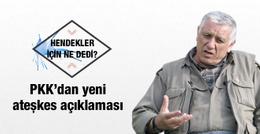 Cemil Bayık'tan yeni ateşkes açıklaması