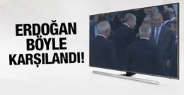 Cumhurbaşkanı Erdoğan TBMM'de böyle karşılandı!