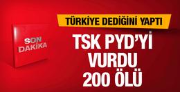 Türkiye PYD'yi vurdu PKK şokta! Son dakika haberleri