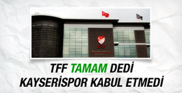 Kayserispor'dan G.Antep'e tarihi ret