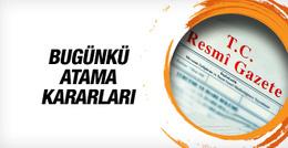 20 Ekim 2016 Resmi Gazete haberleri atama kararları