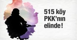 PKK 515 köyü elinde tutuyor