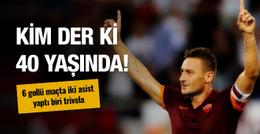 6 golün atıldığı maçta Totti'den nefis 2 asist