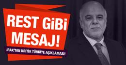 Irak Başbakanı'ndan 'Türkiye' açıklaması