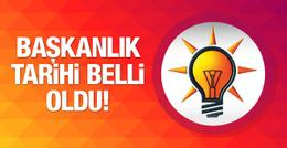 AK Parti başkanlık için tarih belirledi!