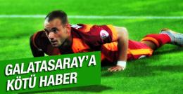 Wesley Sneijder'den kötü haber