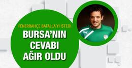 Bursaspor'dan Fenerbahçe'nin planına sert cevap