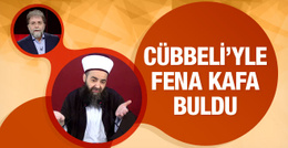 Ahmet Hakan Cübbeli'yle fena kafa buldu!