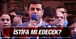 Selahattin Demirtaş'tan istifa açıklaması
