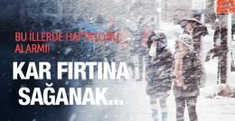 Kar bastıracak haftasonu bu iller aman dikkat!