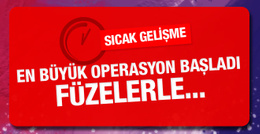 Halep'te en büyük operasyon başladı! Füzelerle...