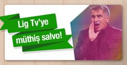 Şenol Güneş Lig Tv'ye kendi ekranında patladı