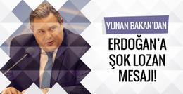 Yunan Bakan'dan Erdoğan'a şok Lozan mesajı!