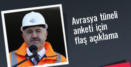 Arslan'dan flaş Avrasya tüneli anketi açıklaması