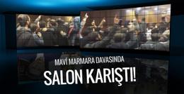 Mavi Marmara davasında salonda arbede!
