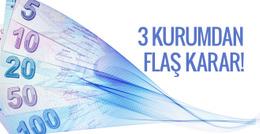 Erdoğan'ın çağrısı sonrası üç kurumdan flaş TL kararı!
