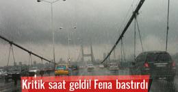 İstanbul hava durumu kritik saat geliyor!