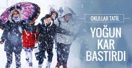 Hava durumu kar bastırdı İstanbul için tarih verildi