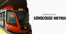Türkiye'nin ilk sürücüsüz metro hattı geliyor!