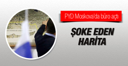 PYD Moskova'da temsilcilik açtı haritadaki ayrıntıya dikkat